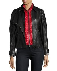 Burberry Kirden 3 In 1 Quilted Leather Moto Jacket W Removable Vest