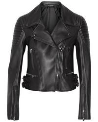 Tom Ford Leather Biker Jacket Black