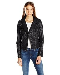 Levi's Faux Leather Assymetrical Diamond Quilted Motorcycle