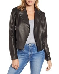 Andrew Marc Naked Pebble Leather Moto Jacket