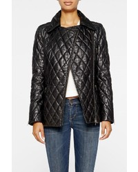 Nicole Miller Quilted Leather Moto