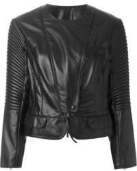 Nina Ricci Ribbed Panel Biker Jacket