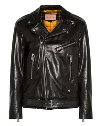 Gucci Painted Leather Biker Jacket