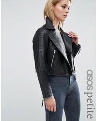 Asos Petite Petite Ultimate Biker Jacket In Leather