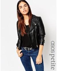 Asos Petite Ultimate Biker Jacket In Leather