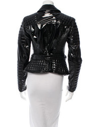 e917f239fdd Burberry Prorsum Patent Leather Moto Jacket, $1,165 | TheRealReal ...