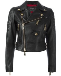 Dsquared2 Quilted Detail Biker Jacket