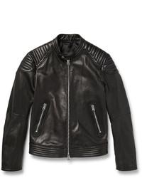 Quilted leather biker jacket medium 3941889