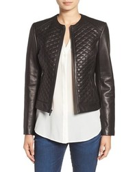 Quilted leather moto jacket medium 748994