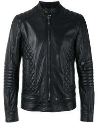 Quilted panel biker jacket medium 6793167