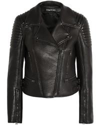 Tom Ford Textured Leather Biker Jacket