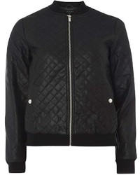 Dorothy Perkins Black Faux Leather Bomber Jacket