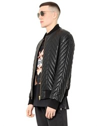 Quilted leather bomber jacket – Jackets photo blog