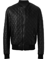 Dolce & Gabbana Quilted Leather Bomber Jacket