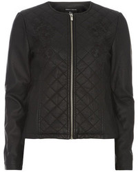 Dorothy Perkins Black Quilt Embroidered Jacket