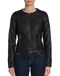 Joujou Quilted Faux Leather Jacket