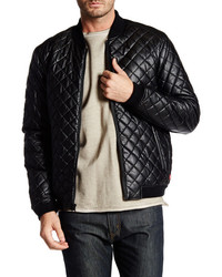 Levi's Levis Faux Leather Diamond Quilted Puffer Bomber Jacket