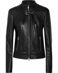 Michael Kors Michl Kors Paneled Leather Jacket