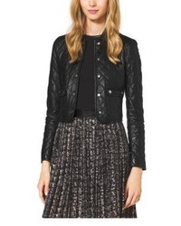 Michael Kors Michl Kors Quilted Leather Jacket