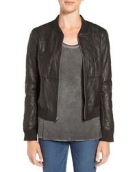 Paige Zoey Quilted Leather Bomber Jacket