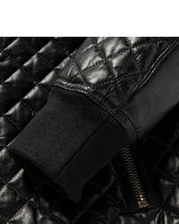 Balmain Quilted Leather Bomber Jacket | Where to buy & how to wear : black quilted leather - Adamdwight.com