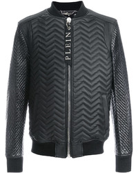 Philipp Plein Quilted Leather Bomber