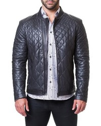 Maceoo Quilted Leather Jacket