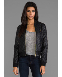 Women's Black Quilted Leather Bomber Jackets from Revolve Clothing ...