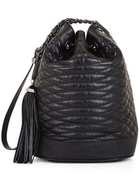 BCBGMAXAZRIA Florance Mini Quilted Leather Bucket Bag