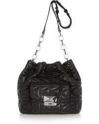Karl Lagerfeld Kkuilted Leather Bucket Bag