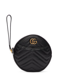 Gucci Black Gg Marmont 20 Clutch