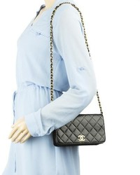 a1f829496ce0 Chanel Black Quilted Lambskin Leather Mini Single Flap Bag, $2,199 ...