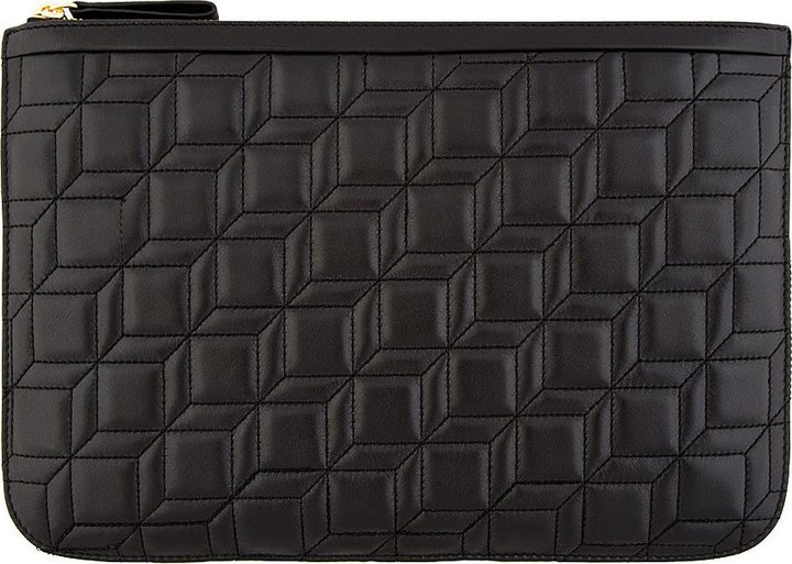 Pierre Hardy Black Quilted Leather Nappa Cb Clutch | Where to buy ... : black quilted leather - Adamdwight.com