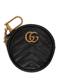 Gucci Black Round Gg Marmont Coin Pouch