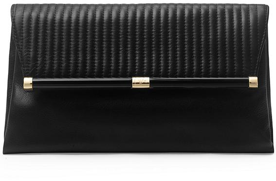 43cc395911 Diane von Furstenberg 440 Large Envelope Rail Quilted Leather Clutch ...