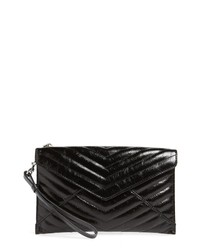 Rebecca Minkoff Leo Quilted Leather Clutch
