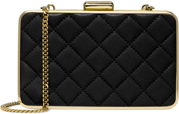 3525aedf4eaf ... spain black quilted leather clutches michael michael kors michl michl  kors elsie quilted box clutch f1ed4