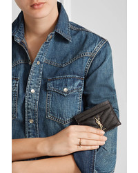 a93102f128a Saint Laurent Quilted Textured Leather Cardholder Black, $250 | NET ...