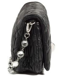... Miu Miu Small Crystal Embellished Leather Shoulder Bag ... 0d61477c3248f