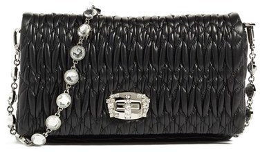 ... Quilted Leather Clutches Miu Miu Small Crystal Embellished Leather  Shoulder Bag ... 9f344eea84c78