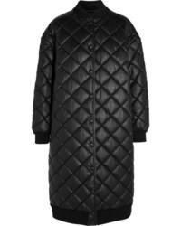 Marisa quilted faux leather coat black medium 819538