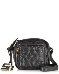 Sonia Rykiel Alban Black Nylon Wgolden Studs Crossbody Bag