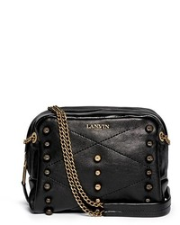 Lanvin Baby Sugar Metal Pearl Leather Crossbody Bag