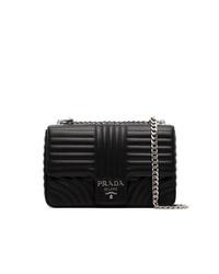 Prada Black Diagramme Leather Shoulder Bag