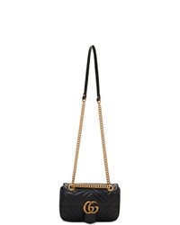 Gucci Black Mini Gg Marmont Bag