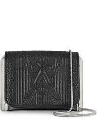 Jean Paul Gaultier Black Quilted Leather Crossbody Bag