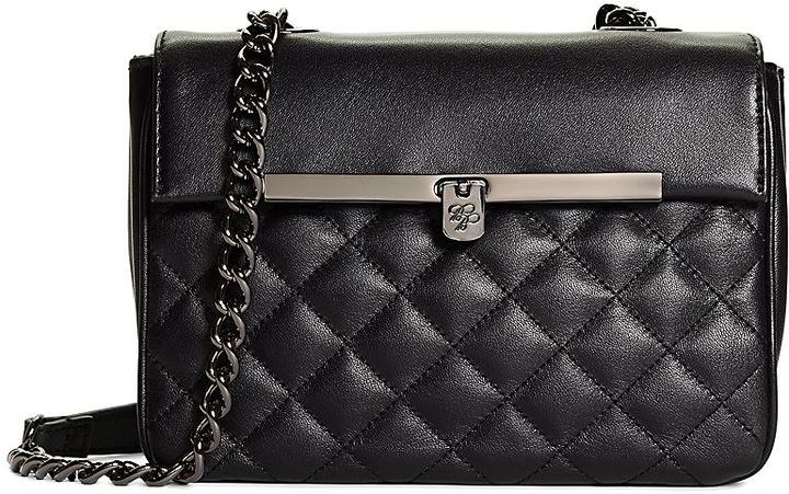 069e5187b0 ... Black Quilted Leather Crossbody Bags Brooks Brothers Small Quilted  Calfskin Crossbody Bag ...