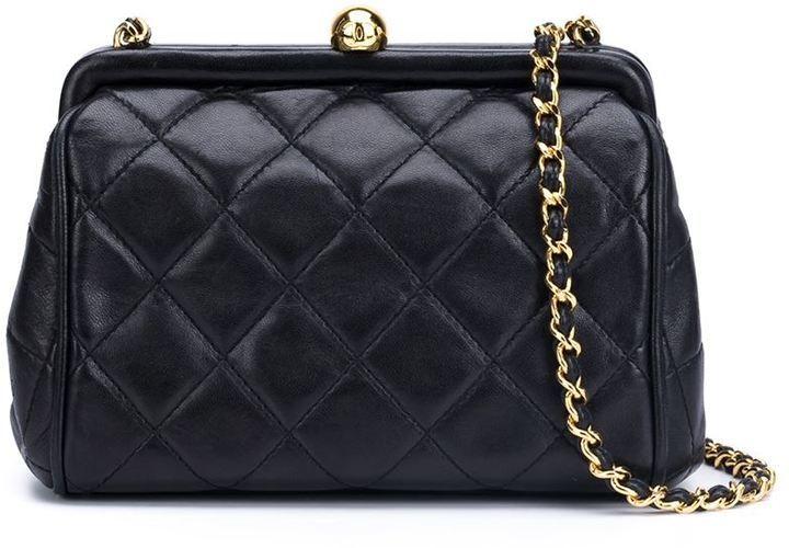305e40c3fda4 Chanel Vintage Mini Kiss Lock Crossbody Bag, $2,750 | farfetch.com ...