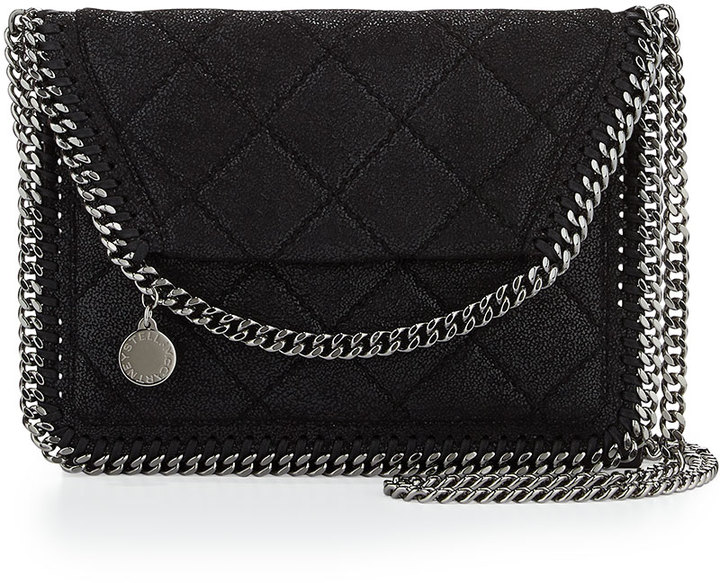 8e6380900169 ... Stella McCartney Falabella Mini Crossbody Quilt Bag Black ...
