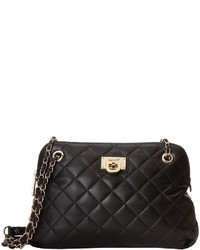 DKNY Gansevoort Quilted Round Crossbody W Adjustable Chain Handle